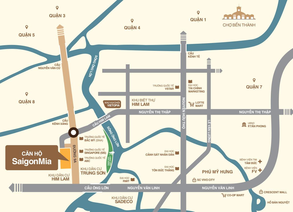 Vị trí căn hộ Saigon Mia