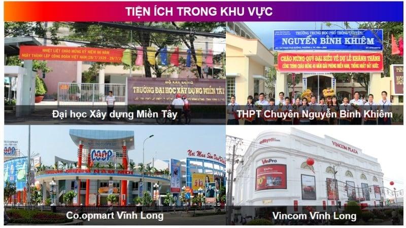 Tiện ích khu vực Vĩnh Long New Town