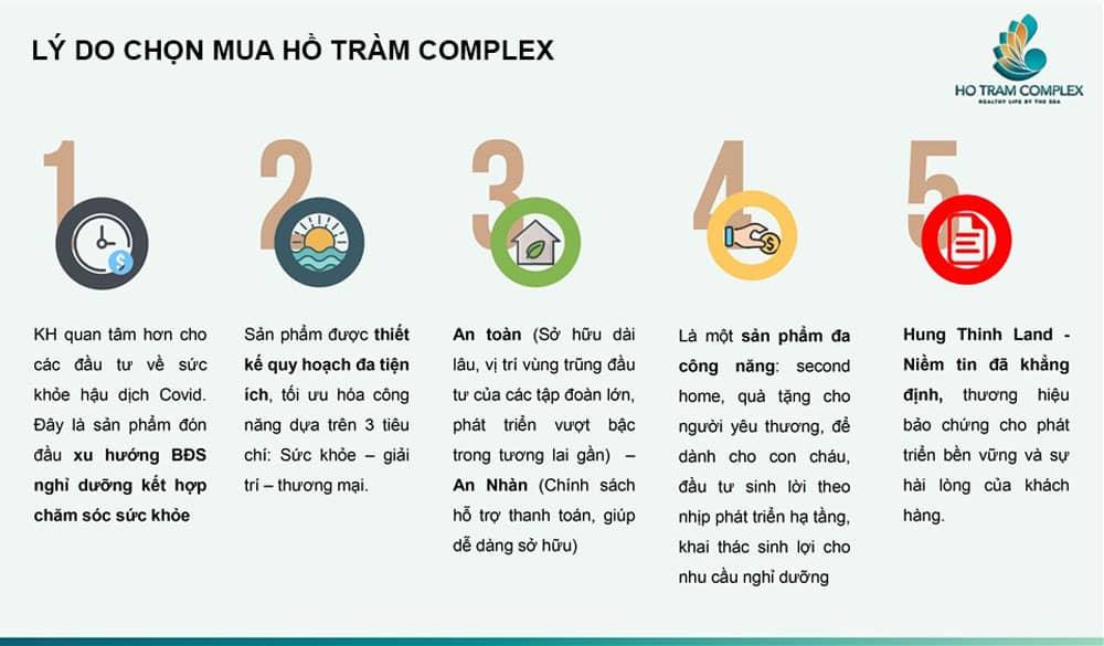 5 điểm nhấn khách hàng nên chọn mua Hồ Tràm Complex