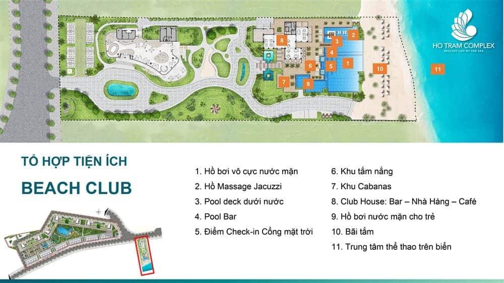 Tộ hợp các tiện ích khu Beach Club