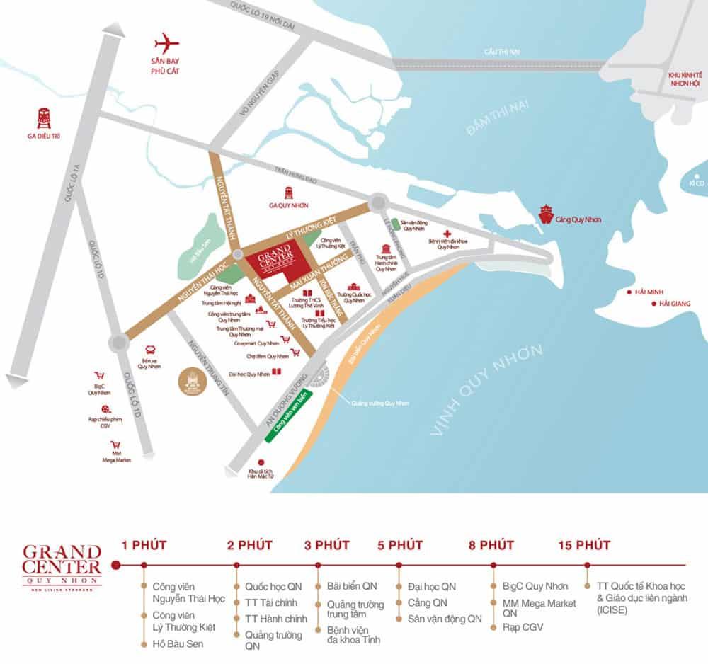 Vị trí dự án Grand Center Quy Nhơn