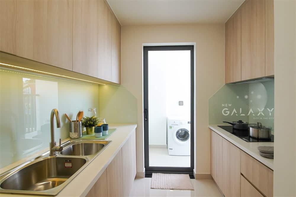 Căn hộ mẫu New Galaxy - phòng bếp